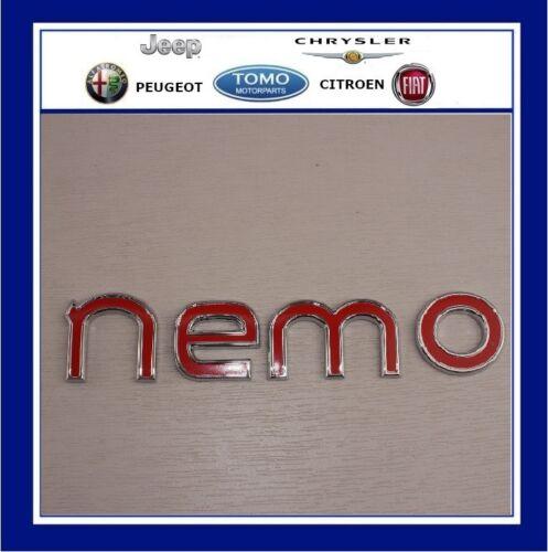 """CITROEN Chrome Frontière du texte rouge /""""Nemo/"""" Arrière Porte De Chargement Badge//emblème//866625"""