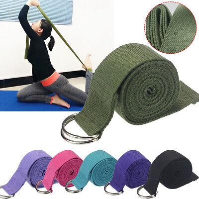 183cm Sport Yoga Pilates Stretch Strap D-Ring Belt Gym Waist Leg Fitness Eyeful