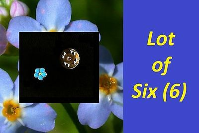 READ the STORY LOT of 6 MASONIC Forget Me Not flower  FREEMASON Lapel PIN hat