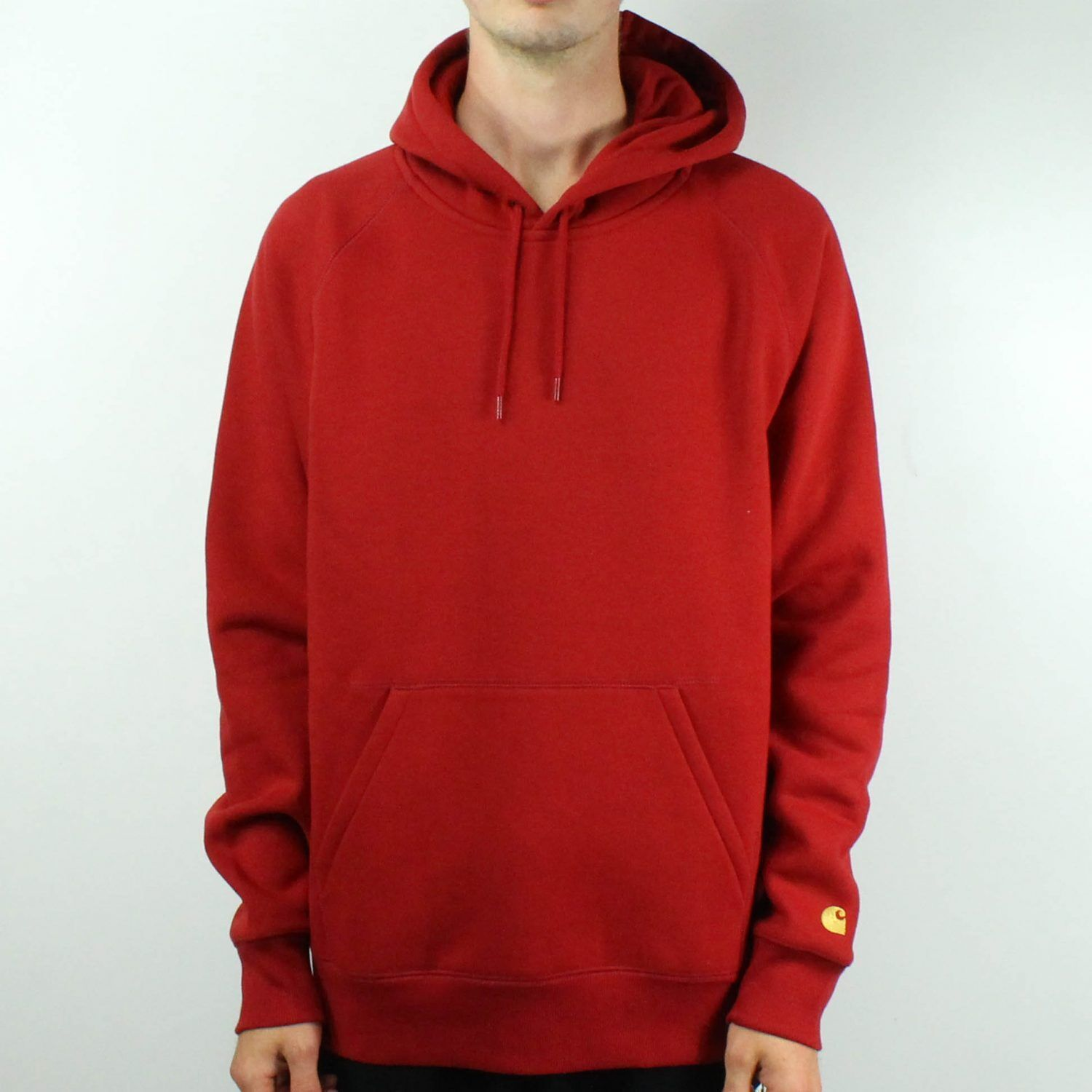 Carhartt Hooded Chase Sweatshirt Pullover in Blast ROT Brand New in S,M,L,XL