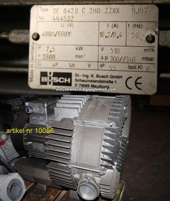 Busch SB 0310 D 0 Seitenkanalgebläse 1321169012 EX