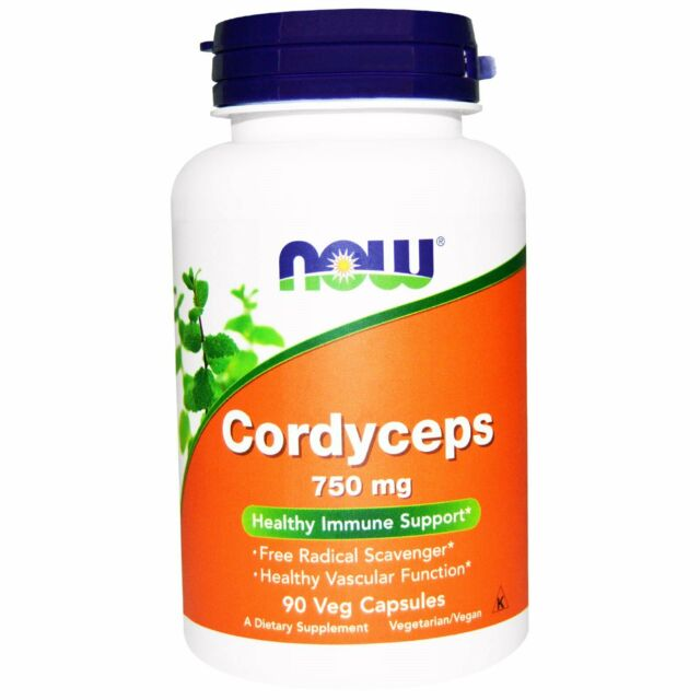 Now Foods: Cordyceps, 750 mg, 90 cápsulas vegetales