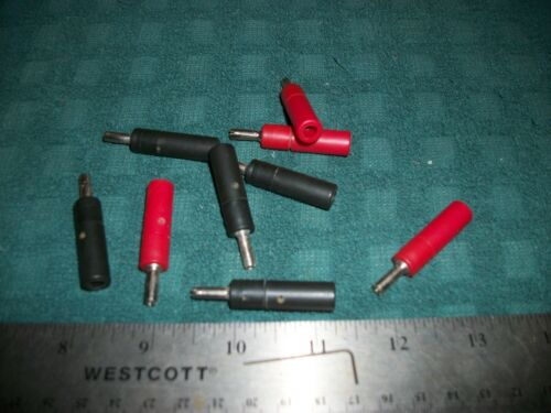 LOT OF RED AND BLACK LOCKING INSULATED SOLDERLESS BANANA PLUGS S