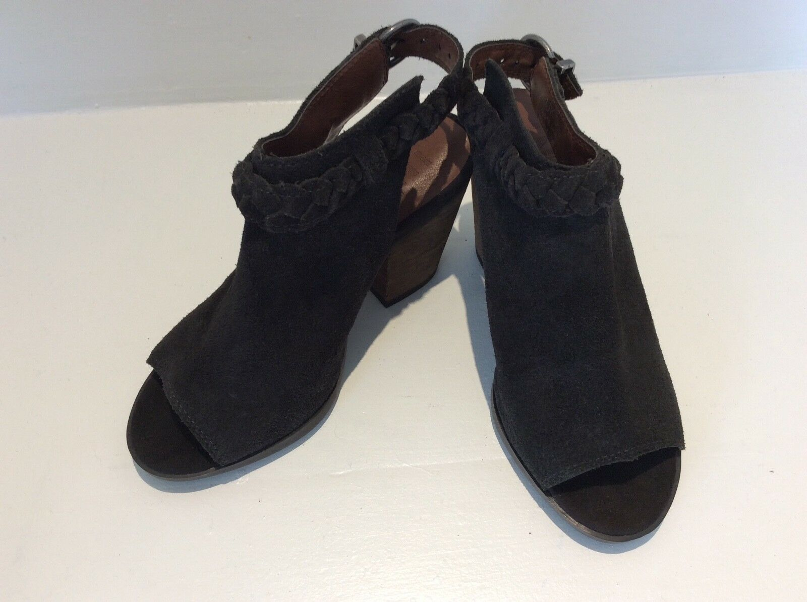 Indigo collection brown suede open size toe heeled shoes size open dd51a4