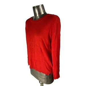 b.young Red Long Sleeve Jumper Top T-Shirt NEW UK L 16 (EU44) Women's RRP £30