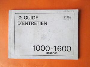 guide-manuel-utilisation-entretien-CITROEN-1971-1000-1600-type-H-HY-HZ-HP-HX-HW