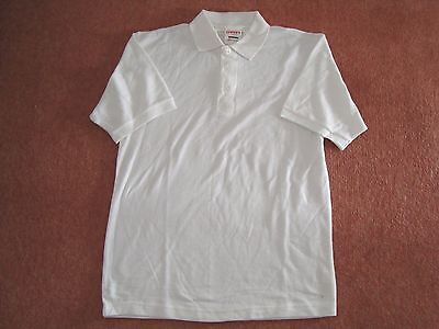 Bene Carta Sport Bianco Polo T Shirt Tennis Palestra Pe Formazione-mostra Il Titolo Originale Vendite Di Garanzia Della Qualità