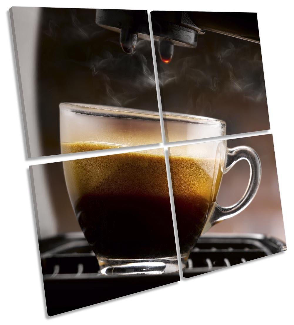 Cappuccino braun Coffee Picture MULTI CANVAS WALL ART Square