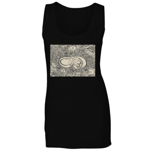 Abstract Design Baby in the Womb Ladies T-shirt//Tank Top y238f