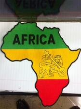 IRON ON/SEW ON - AFRICA LION - WOVEN BACK PATCH JAMAICA SELASSIE RASTA
