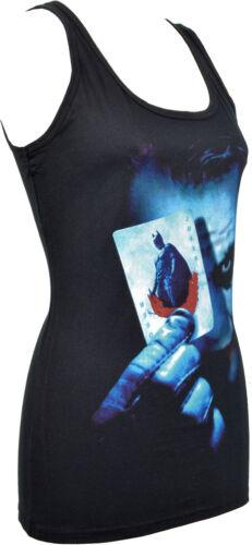WOMENS TANK TOP HEATH LEDGER THE JOKER CARD GOTHAM BAT DARK NIGHT GOTH S-2XL