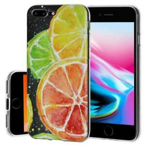 the best attitude e9423 75403 Details about Soft Gel Premium TPU Graphic Skin Case Cover for iPhone 8  Plus - Citrus Print
