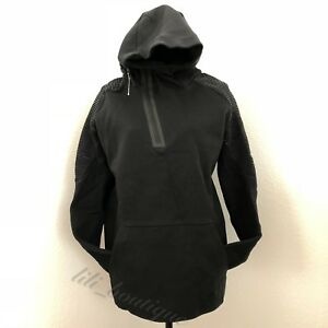 69d17f73cb NWT New Nike 805655-010 Men s Tech Fleece Half-Zip Long Hoodie Large ...