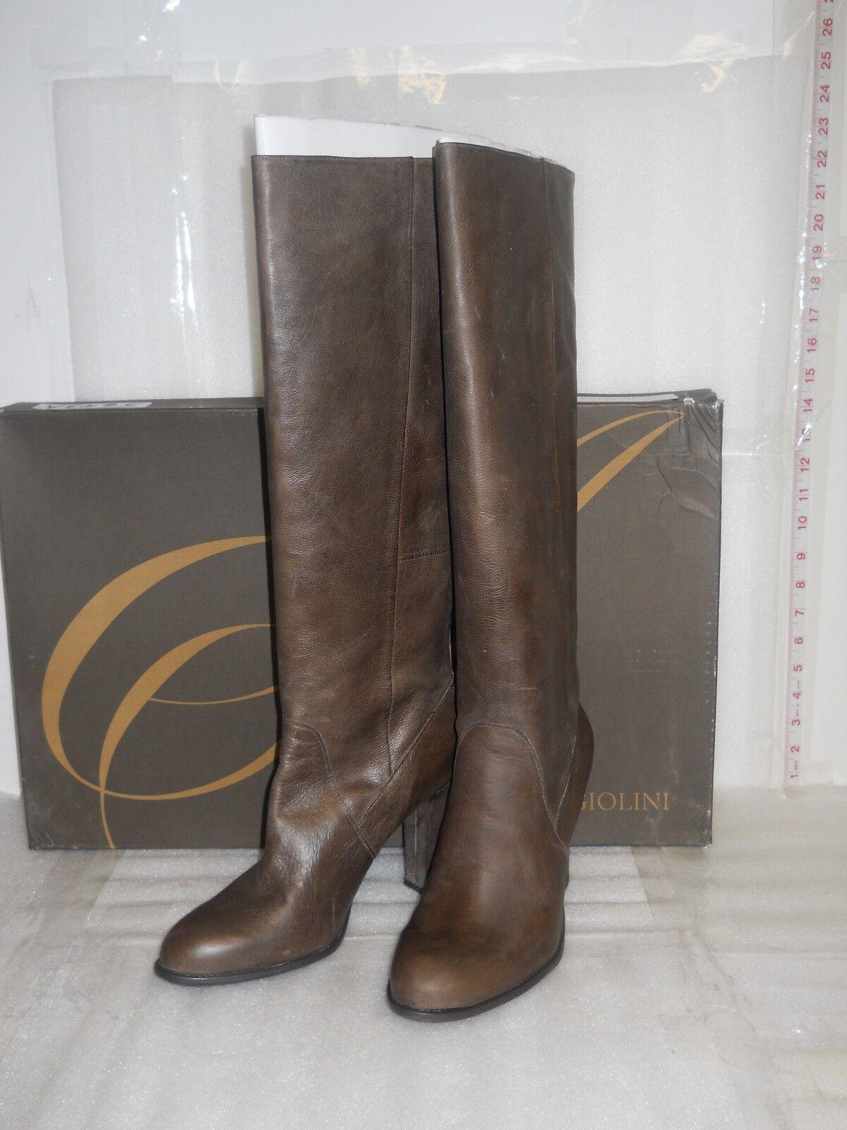 Enzo Angiolini NWB damen Karissa Dark braun Leather Stiefel schuhe 10.5 MED NEW