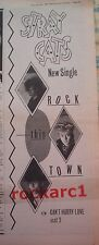 STRAY CATS Rock this Town 1981 UK Poster size Press ADVERT 16x6 inches