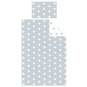 Gris-et-Blanc-Stars-Housse-de-Couette-Junior-Set-Bebe-Matelas-Protecteur