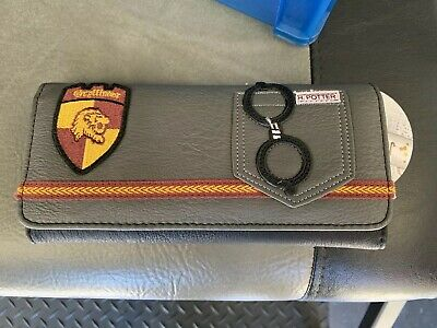 Harry Potter Gryffindor Loungefly Tri Fold Wallet 8x4 Faux Leather 671803180307