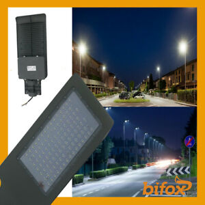 FARO-PALO-LED-STRADALE-LAMPIONE-PARETE-LUCE-INDUSTRIALE-ESTERNO-IP65-ARMATURA