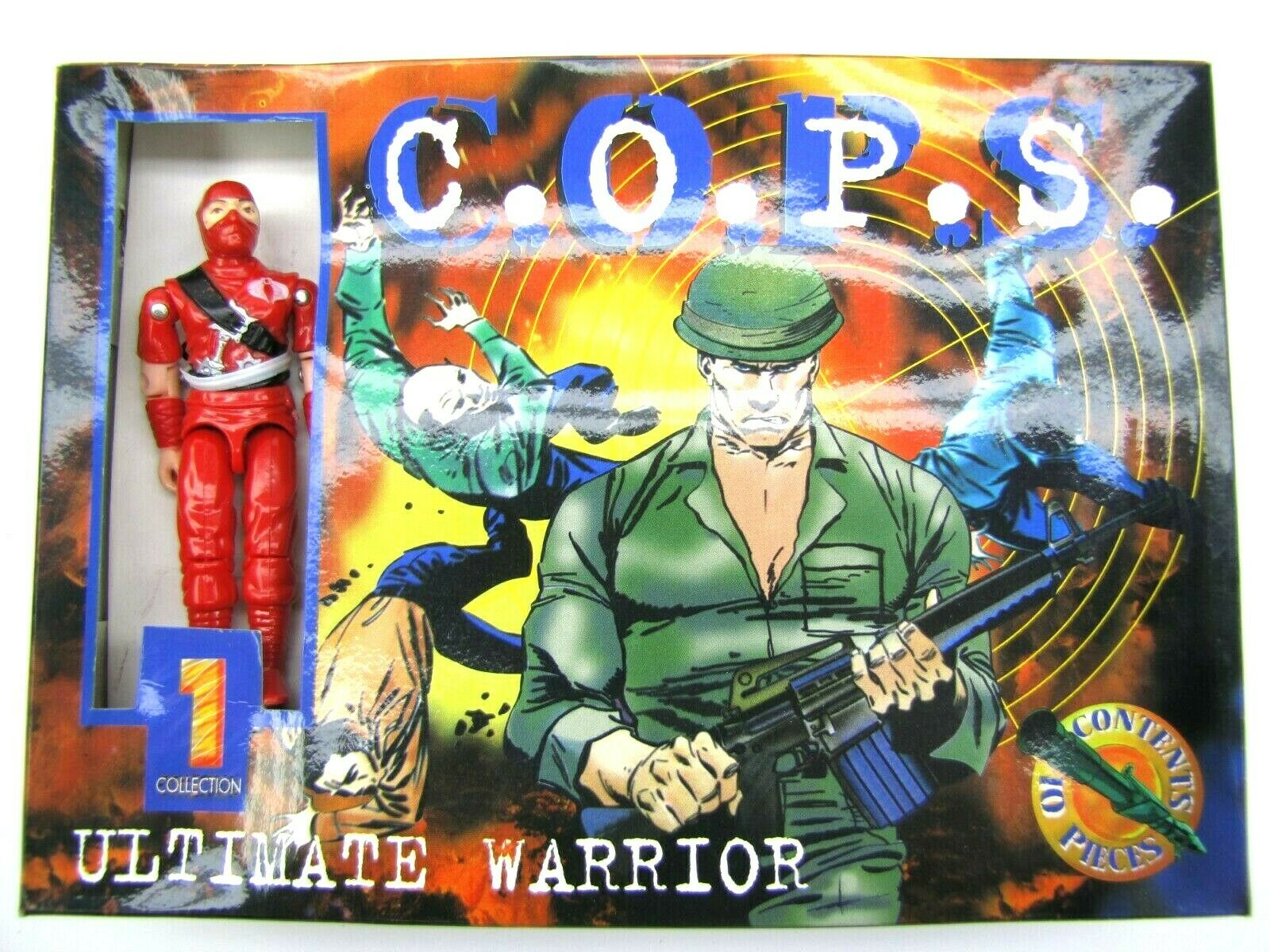1984 GIJoe Silberina Comandos Heroicos COBRA rot NINJA SATAN Mint in Box RARE