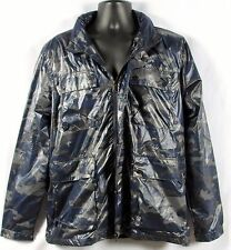 STRUCTURE Mens Light Weight Outdoor Blue Camo Wind Jacket Size Large NWT