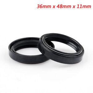 Front-fork-Oil-Seal-36-x-48mm-x-11mm-For-Kawasaki-EX250F-Ninja-250R-KZ550-B4