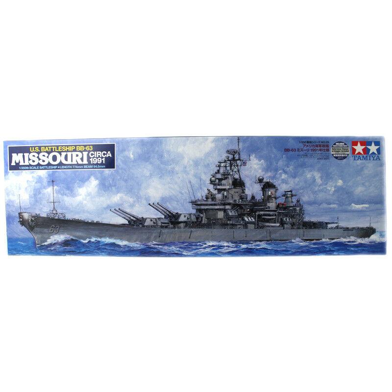 Tamiya US slåssship BB -63 Missouri modellllerlerl Set (skala 1 350) -78029 - NY