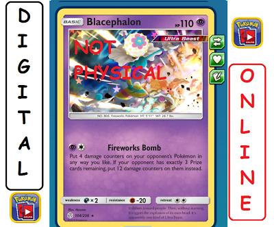 104//236 Cosmic Eclipse PTCGO Online Digital Card Blacephalon