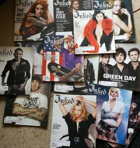 Lot of 14 Inked Tattoo Magazines Issues pictured | eBay