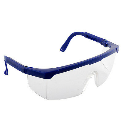 New Safety Eye Protection Clear+Black Goggles Glasses From Lab Dust Paint