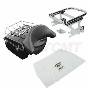 King-Pack-Trunk-Fit-For-Harley-Tour-Pak-Touring-Road-King-Electra-Glide-97-08-US