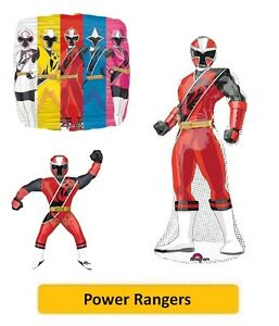 POWER-RANGERS-FOIL-BALLOONS-SuperShape-Kids-Birthday-Party-Foil-18-034-Latex