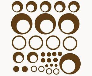 Retro-Kreise-Wandtattoo-Deko-Set-Punkte-Wandsticker-Ringe-Kreise-Wandtattoos