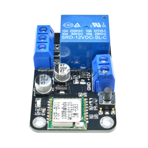 DC 12V Smart Wifi Wireless Self-lock Switch Delay Relay Modul By APP IOS Android