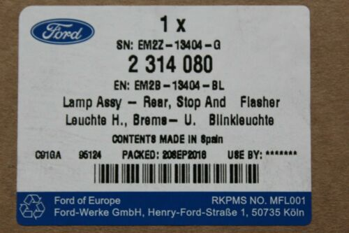 Genuine Rear Light Right outside Ford S-MAX from Year 1//2015 2314080