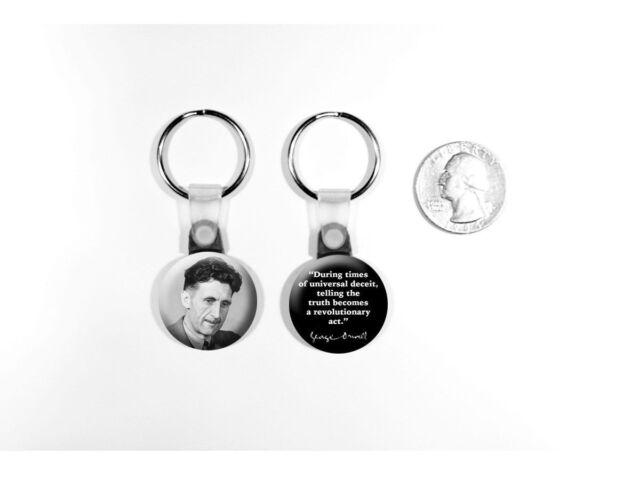 George Orwell Author Quote Animal Farm 1984 Set Of 2 Key Chains Ebay