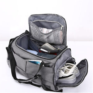79a5f5baa716 Image is loading Waterproof-Lock-Travel-with-Shoes-Compartment-Handbag- Backpack-