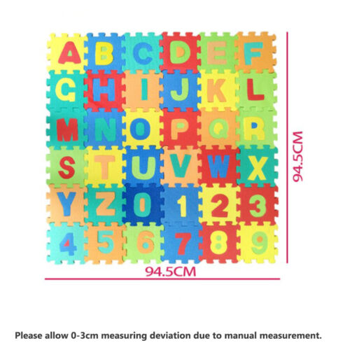 36PCS LARGE Alphabet Numbers EVA Floor Play Mat Jigsaw Foam Puzzle Baby Soft Toy