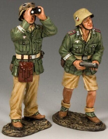 King & Land Afrika Korps Ak096 2cm Flak 38 Waffe Zusatz Crew MIB