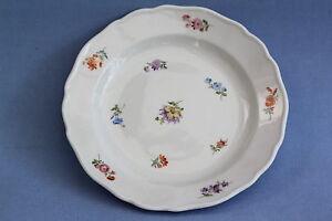 Meissen-Bunte-Blume-Kuchenteller-18-cm