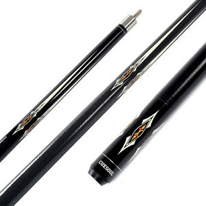 Cuesoul-Pool-Cue-Stick-1-2-Jointed-12-7mm-58-Canadian-Billiard-Black-Free-Ship