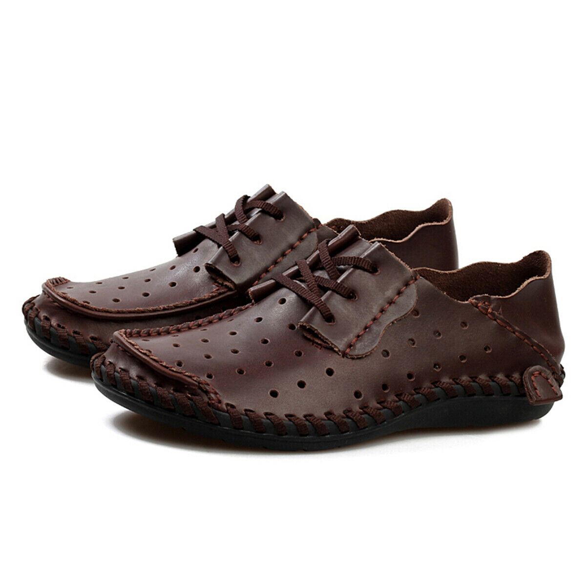 Mens Loafers shoes Driving shoes Casual Cowhide Moccasins Leather Slip On Sheos