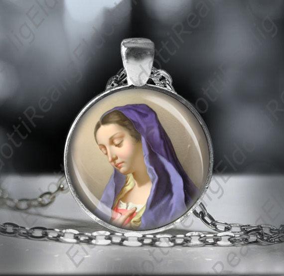 St maria magdalena necklace catholic medal mary magdalene pendant st maria magdalena necklace catholic medal mary magdalene pendant jewelry mozeypictures Choice Image