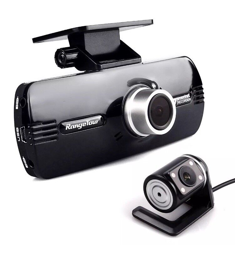 s-l1600 Range Tour Car Dash Cam 1080P FHD Dual Lens Front and Rear Camera DVR G-Sensor