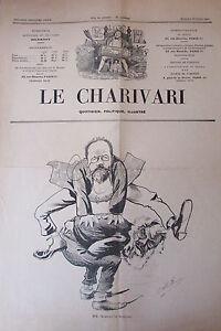 SATIRIQUE-PAMPHLET-POLITIQUE-LE-CHARIVARI-de-1904-CARICATURE-ROUVIER-PELLETAN