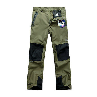 Mens Waterproof Outdoor Hiking Climbing Combat Trousers Tactical Cargo Pants