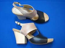 7.5 M Chocolat Blu Brown Brown Black Ladies High Heel Shoes Sandals Womens Samba