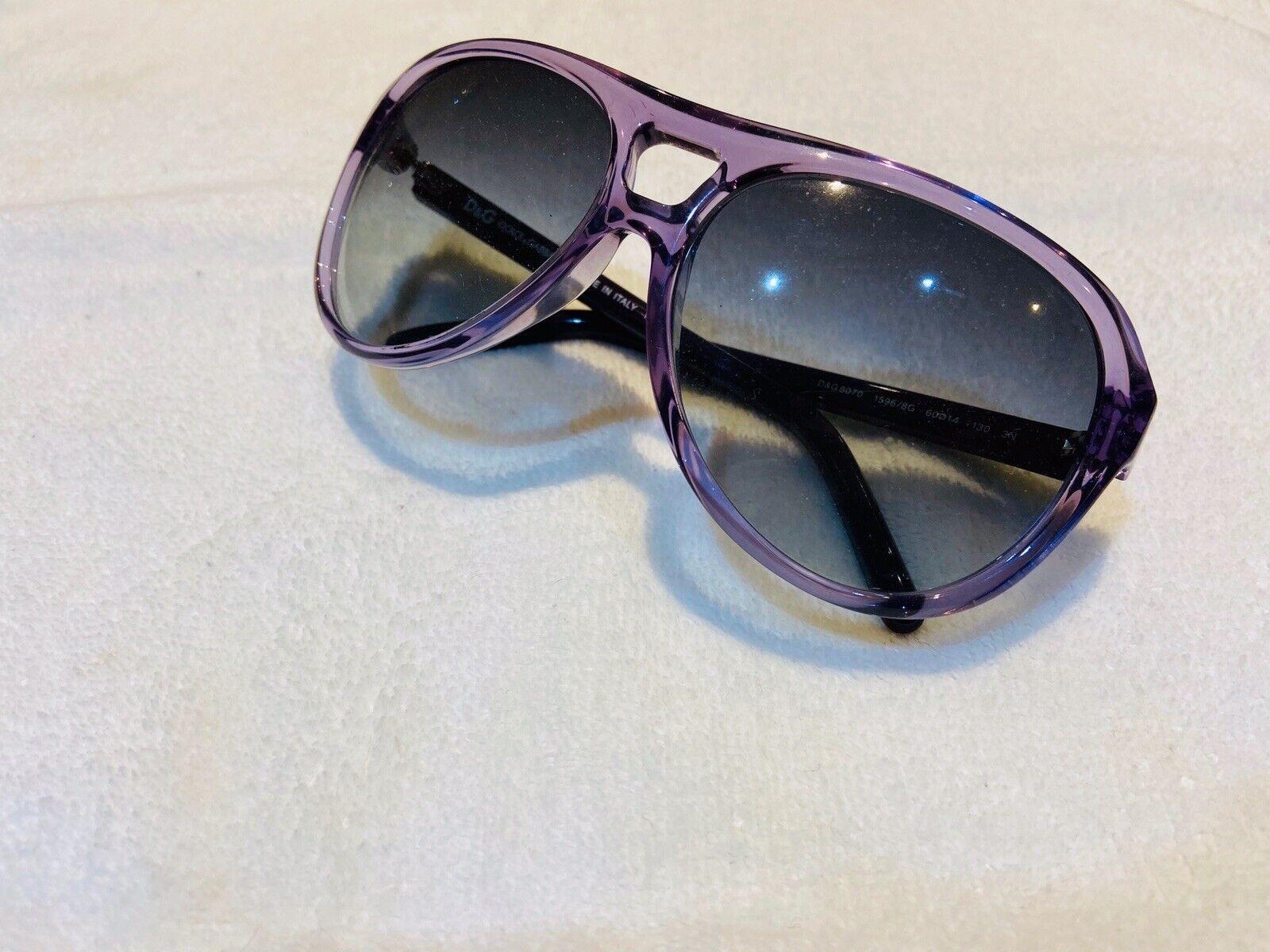 Dolce & Gabbana Purple Women's Aviator Sunglasses Italy - Amazing Condition