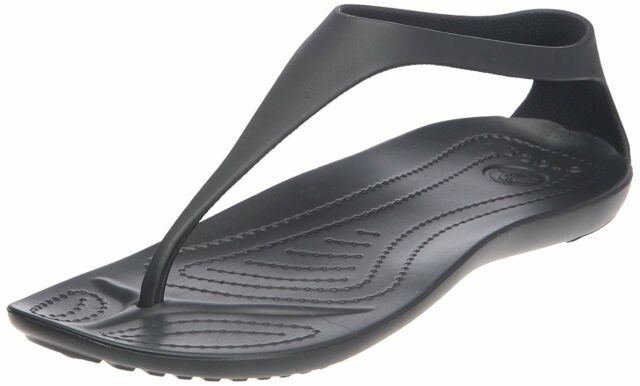 Crocs Women's Sexi Flip Sandal,Black/Black,9 M US
