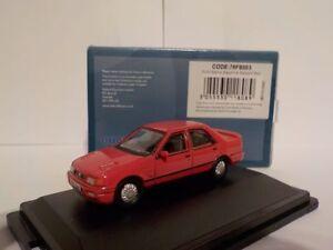 Ford-Sierra-Zafiro-rojo-modelo-coches-Oxford-Diecast