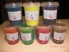 4 pots = 1,880 kg net sucre pour machine barbe à papa qualité pro + 50 bâtons